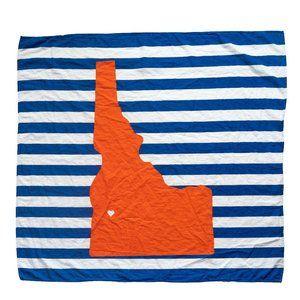 Boise State Broncos Inspired Baby Blanket Organic